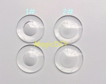 Transparent Acrylic Blank Blythe eye chips for Custom Use