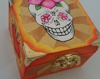 Sugar Skull Trinket Box (Sunburst)