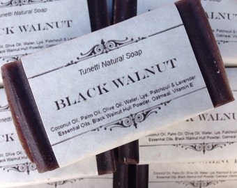 Black Walnut Natural Homemade Soap, Handmade soap, Natural Soap, Cold Process Lye Soap