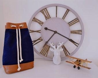 Backpack navy, sailor, backpack travel, University, vintage, gift man