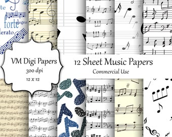 Sheet Music Digital Paper, Sheet Music Paper, Music Sheet, Sheet Music, Digital Music Paper, Digital Paper, Scrapbook Paper, #7783