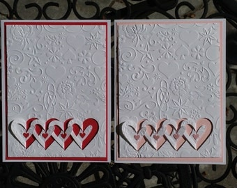 Handmade Love Card, Embossed Love card, Wedding card, Bridal Shower card, Valentine Card, I Love You Card, Birthday Card, Valentine wishes.