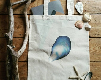 Mussel Shell canvas bag