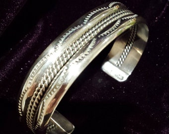 Sterling silver native American cuff