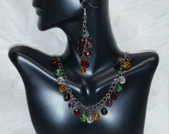 Fall Inspired Jewelry Set - Necklace & Earrings