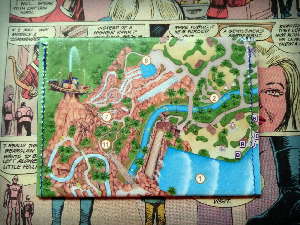 SALE! Upcycled Park Map Wallet/Gift Card Holder - Typhoon Lagoon ...