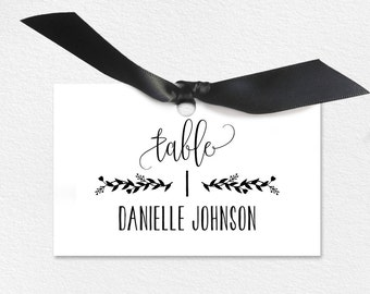 Wedding Place Cards, Wedding Place Card Printable, Place Card Template, Wedding Printable, Rustic Wedding, PDF Instant Download #BPB224_6