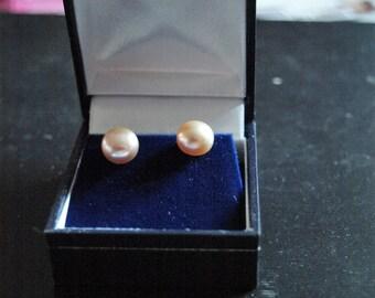 Pair of Pink Pearl Earrings
