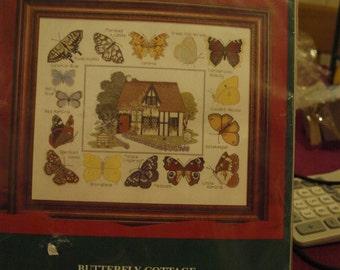 Cross Stitch Kit  Butterfly Cottage