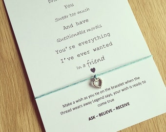 you're everything I've ever wanted in a friend wish bracelet