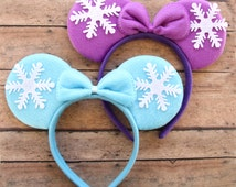 Frozen Mickey Ears, Frozen Ears, Elsa Mickey Ears, Frozen Minnie Ears, Anna Mickey Ears, Frozen, Elsa Ears, Christmas Mickey Ears, Elsa
