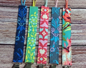 Amy Butler Designer Fabric Pacifier Clips for your Binky