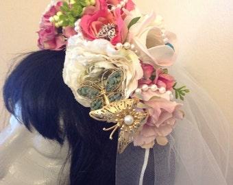 Hand Created Butterfly Wedding Headwear