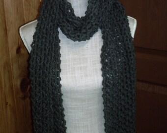 MOSS stitch maxi scarf