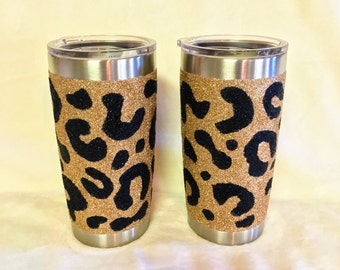 Leopard Glitter Yeti, Glitter Yeti, Leopard Print, Yeti
