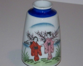 Vintage Made in Japan Porcelain Hand Painted Vase