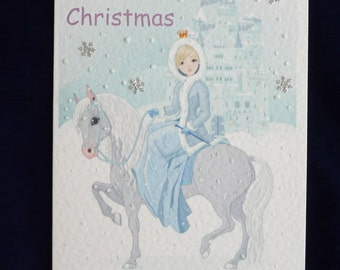 A5 Personalised Christmas Card for Granddaughter/Daughter/Niece etc