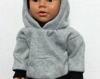 18 inch boy doll clothes boy doll hoodie black jeans for boy doll American boy doll hooded sweatshirt
