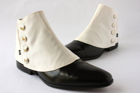 Victorian Men's Clothing Mens Spats Ivory Ottoman - Dapper Men - Gaiters spats spatterdash $80.00 AT vintagedancer.com