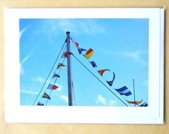 Flags Blank Greetings Card with Envelope. Blank for own message.