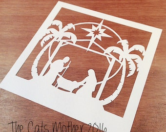 Nativity Christmas Themed Paper Cutting Template - Commercial Use