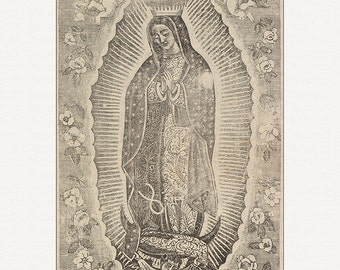 12x16 PRINT of Our Lady of Guadalupe, Nuestra Senora de Guadalupe, art print, home decor, wall art, La Virgen Guadalupana, print, art print
