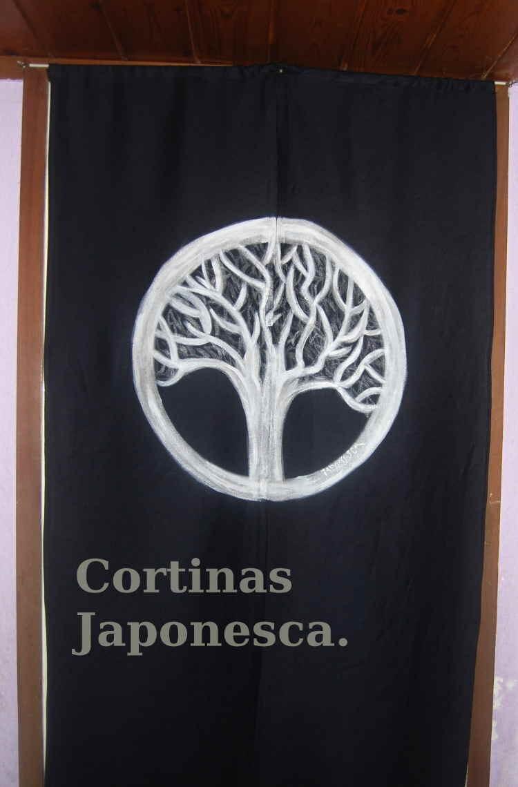 Cortina japonesa para puertas y pasillos noren con escudo for Cortinas para pasillos