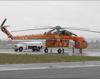 24x36 Poster . Erickson Air-Crane S-64 Sikorsky
