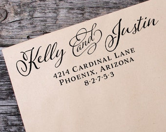 Return Address Self Inking Stamp, Wedding Return Address Self Inking Stamp, Custom Address Stamp - 075