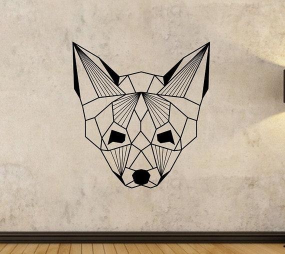 Geometric Fox Wall Decal Sticker Art Decor Bedroom Design