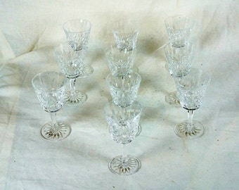 """Lot of 10 Waterford goblets 6"""" tall, 3 1/4"""" diameter. Marked"""