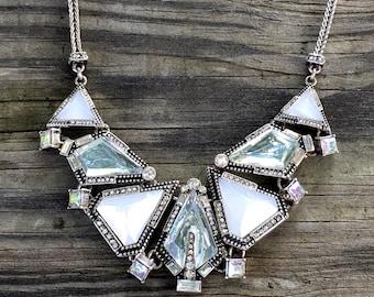 Silver Crystal Necklace