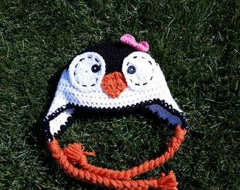 Penguin Ear Flap Hat