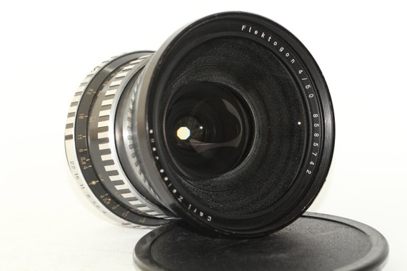 Lens Flektogon 4/50 zebra CARL ZEISS JENNA ddr Pentacon six mount N8585742