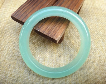 60mm Natural green agate bracelet (inner diameter 60 mm)