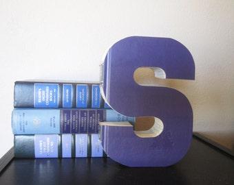 Letter S Monogram Reader's Book Letter - READY TO SHIP - Wedding Decor & Gift Idea - Book Lover's Gift - Wedding Gift - Baby Nursery