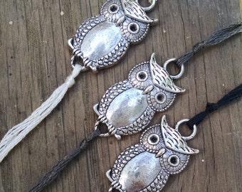 Owl Wish Bracelet, Owl Charm Bracelet, Wish Charm, Simple Bracelet, Bird Charm, Friendship Jewelry, Animal Charm
