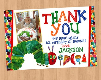 Very Hungry Caterpillar Thank You Card Printable