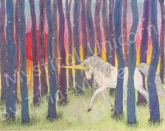 MYSTICAL UNICORN - Giclee Print