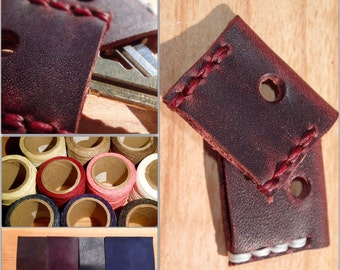 Custom Leather Key Cover made of Horween Leather