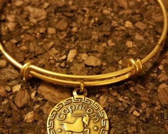 Zodiac Capricorn Expandable Charm Bracelet