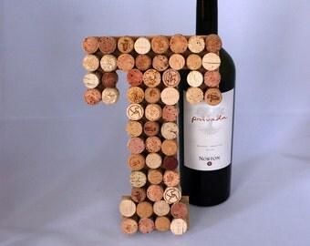 Wine Cork Letter T