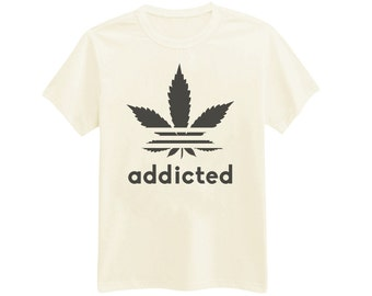 422 - Addicted - Printed T-Shirt - by HeartOnMyFingers