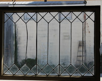Vintage Leaded Glass Window****Read Lisitng Before Purchasing
