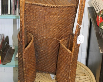 Vintage Unusual Beside the Couch Magazine Basket