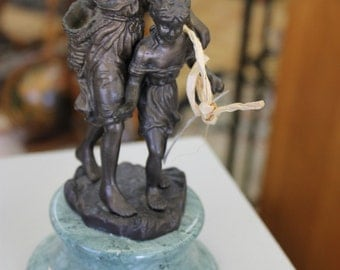SOLD!!! Bronze Statue with Marble Base