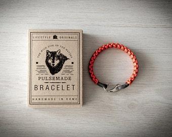 Crab Bracelet men-Women, jewelry for men women, urban bracelet orange-charcoal, Valentine's Day gift, bracelet for her and him