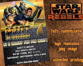 STAR WARS REBELS Printable Birthday Party Invitation / Star Wars Birthday Invitations