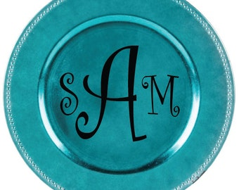 Personalized Charger Plate Monogram Charger Charger plate Personalized Home Decor Monogram Home Decor Personalized Dinner Plate Charger