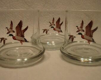 3 Mallards In Flight Glasses